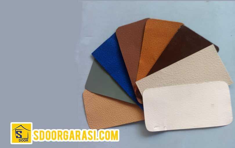 Pintu sdoor pengecatan mengunakan powder coating 8 warna