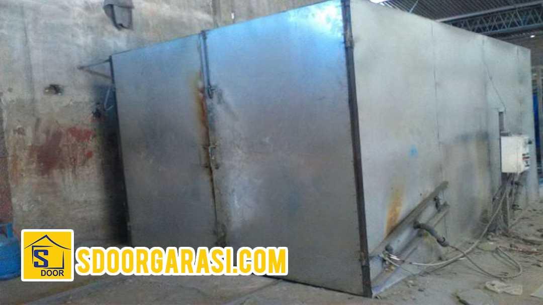 proses pengecat besi pintu dengan powder coating