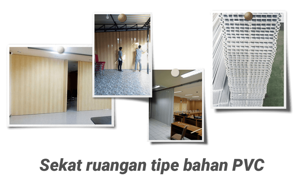 Jasa sekat ruangan tipe bahan menggunakan PVC cocok untuk Kantor dan Rumah