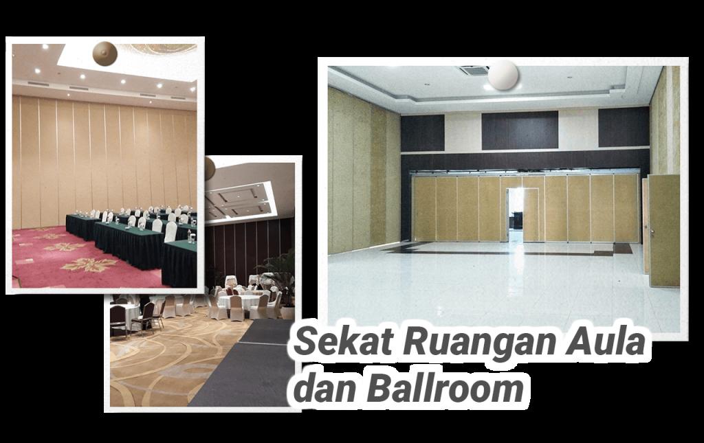 Jasa sekat ruangan aula lebar dan tinggi dan ballroom